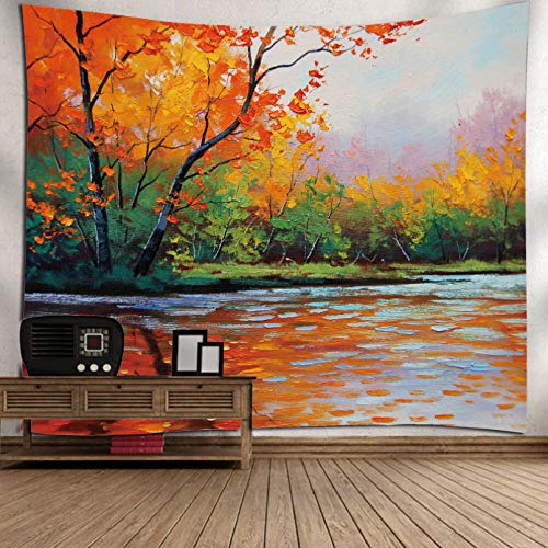 N/A Impresión 3D de tapices Colgante de Pared Poliéster Impreso 3D Escénico Sala de Estar Dormitorio Alfombra de Pared Decoración Tejido Rectángulo Tapices de Tela de Pared Regalo de Arte
