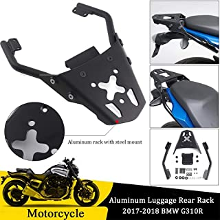 FATExpress for 2017 2018 BMW G310R Motorcycle Black Aluminum Luggage Top Mount Rear Rack Carrier Fender Support w/Hardware 17-18