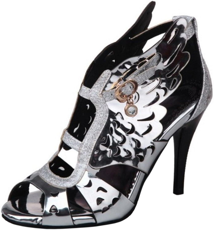 TAOFFEN Women Fashion High Heels Slingback Sandals
