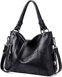 BUKESIYI Damen Tasche Handtasche Umhängetasche Schultertasche Frauen Kulturbeutel Weekender Klein PU Leder CCDE77161