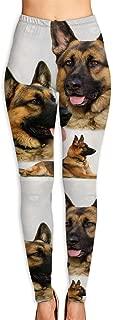 Women's Yoga Pants German Shepherd Collage Fitness Power Flex Yoga Pants Leggings