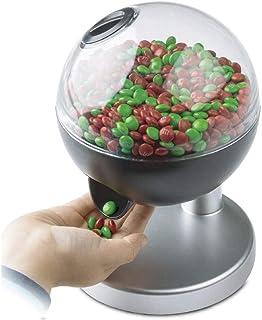SILVANO Elektrische dispenser voor snoep, kauwgom en noten, transparant om de inhoud te zien en touch-activering.