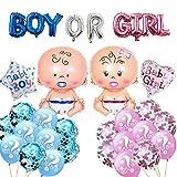 Globos para niña o niño, decoración de fiesta de género, equipo de fiesta revelable, globos para baby shower Gender Reveal, decoración para fiestas de bebés, decoración para fiestas de bebés