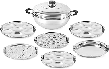 Cello Stainless Steel Multi Kadhai, Induction Base with 6 Plates