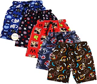 Trendy Dukaan™ Boys Pure Cotton Printed Half Pants - Pack of 5 (Colour and Design May Vary)