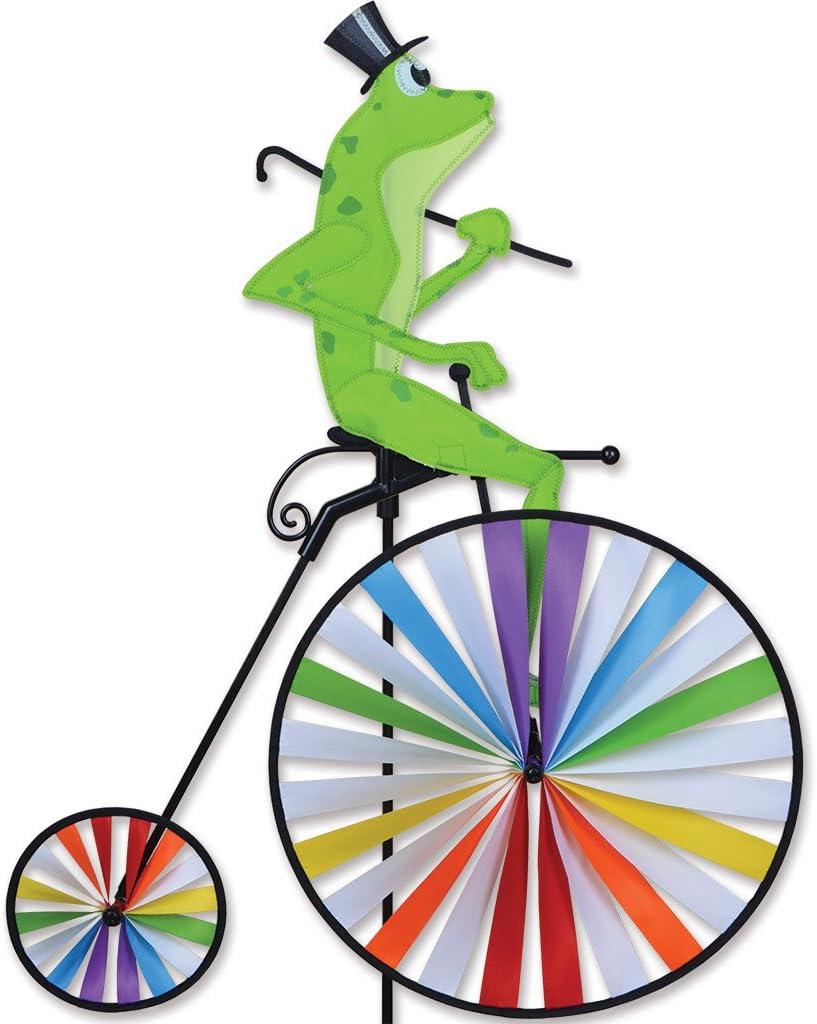 Premier Kites High Wheel Bike Spinner - Frog: Garden & Outdoor