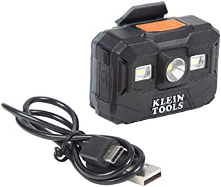 Klein Tools 56062 Rechargeable Headlamp and Worklight, LED Headlight for Klein Hardhats, 300 Lumen, All-Day Runtime, 3 Mod...