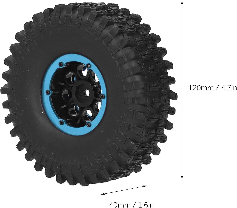 RC Autoreifen 4 St/ück 1,9 Zoll Gummi RC Crawler Reifen Gummireifen Rad Reifen f/ür Fernbedienung RC Car SCX10 TRX4