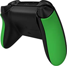 eXtremeRate Green Soft Touch Grip Back Panels, Comfortable Non-Slip Side Rails Handles, Game Improvement Replacement Parts...