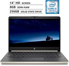 "HP Notebook 14"" HD WLED-Backlit Screen Laptop, Intel Core i3-7100U 2.40GHz Dual-Core Processor, 8GB Memory, 256GB M.2 Soli..."