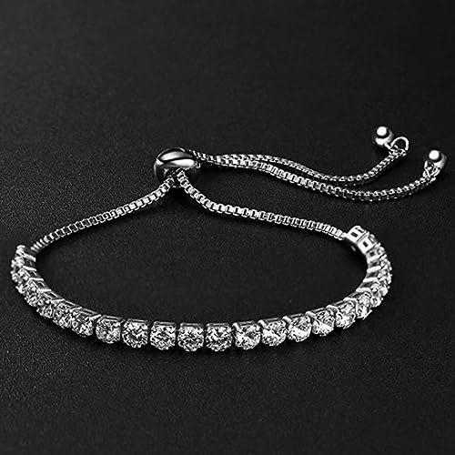 Elegant Metallic Finish and Stones Bracelet - Unique Gift Ideas For 17 Year Old Female Teenage Girl