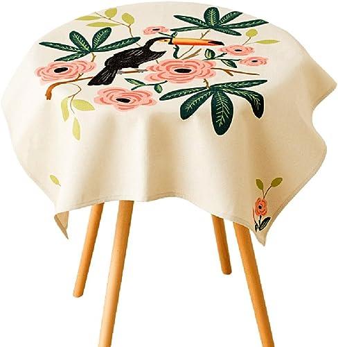 Meng WeißShop Baumwolle Leinen Tischdecke Wohnzimmer Schreibtisch Schreibtisch Tischdecke Wasserdicht Waschbar Tischdecke (Größe   140  200cm)