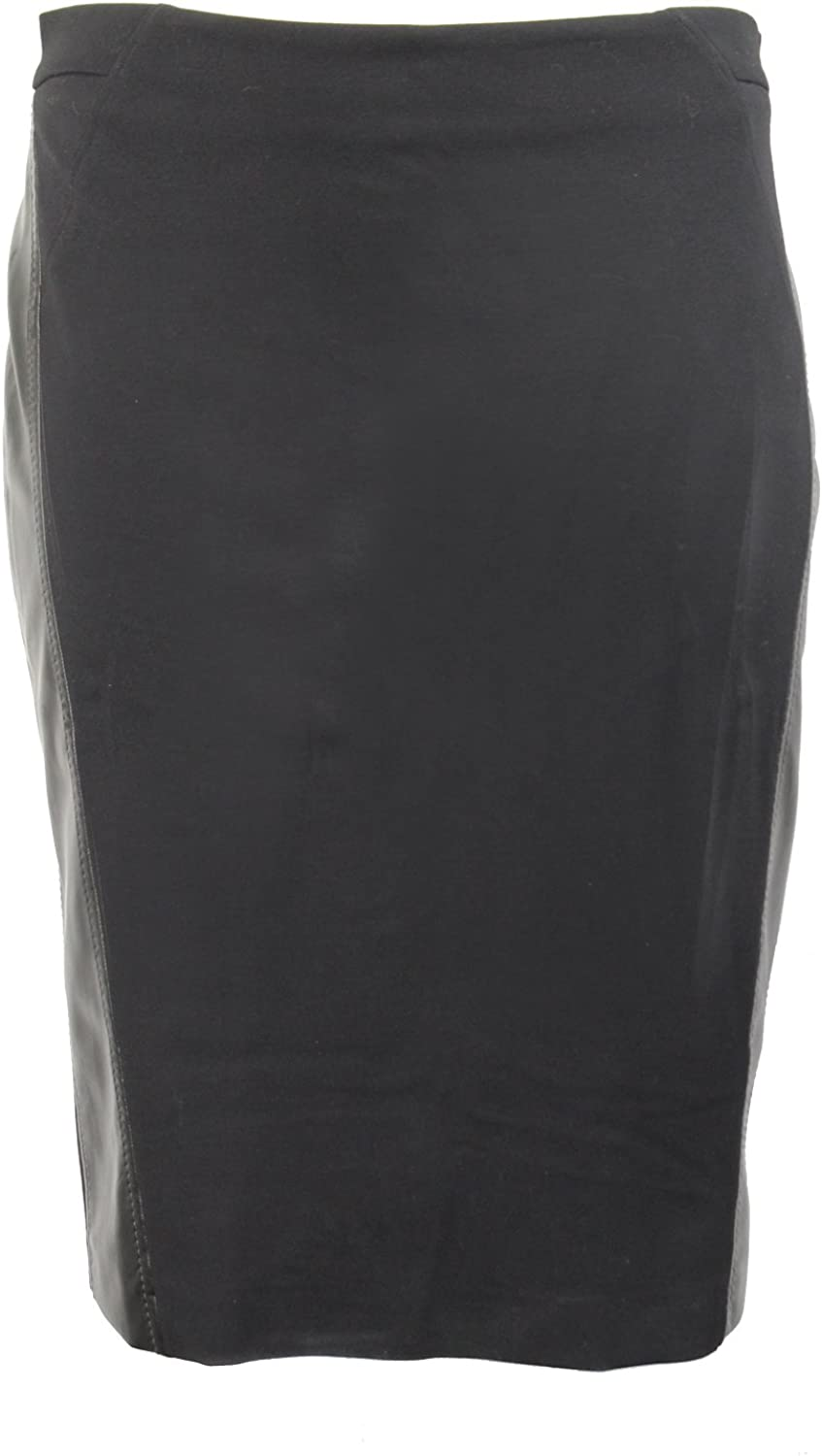 Elena Miro Womens Leather Side Seam Pencil Skirt Plus Size Black 14,16,22