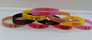 Glow in the Dark - FIVE NIGHTS AT FREDDY'S Bracelets, party favor, sleepovers (10 pack)