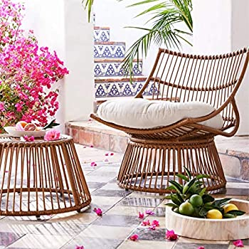Opalhouse Borealis 2pc Patio Papasan Chair & Ottoman Set
