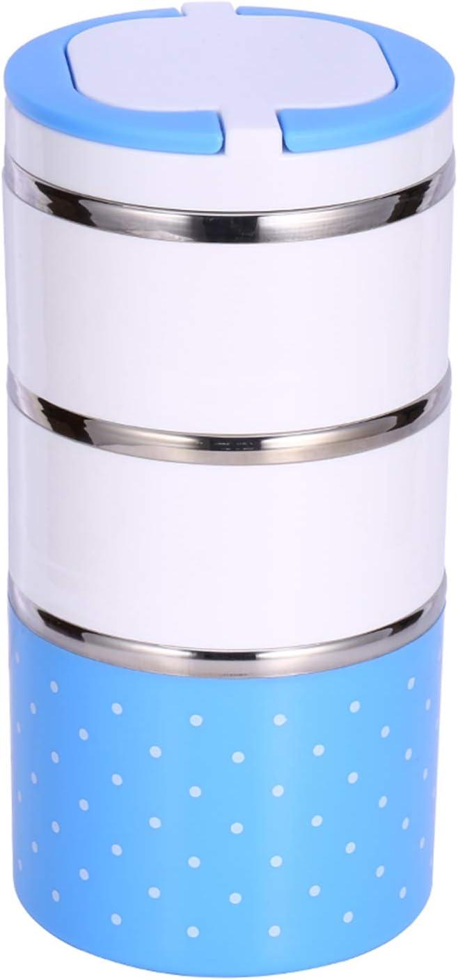 Fiambrera termo térmica de aislamiento de acero inoxidable de 3 capas contenedor de comida Fiambrera Bento caliente para adultos mujeres hombres niños