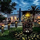Vingtank Luz solar para jardín IP65, luces de camino impermeables para jardín, decoración al aire libre, lámparas solares, luces solares de bajo consumo, ideales para terrazas