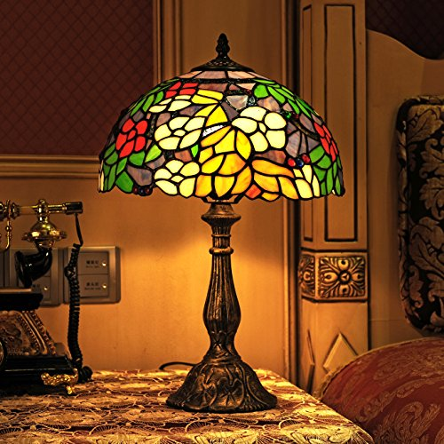Europäische Idylle Tiffany 12-Inch handgefertigtes Buntglas Herrliche hängende Lampen Esszimmer Licht