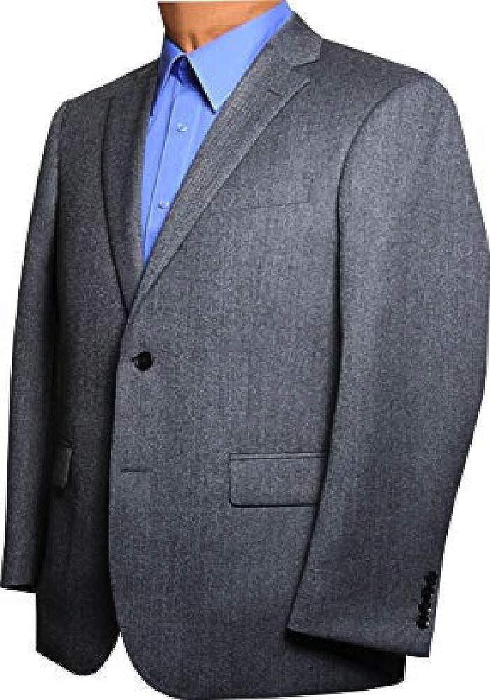 Classic British Styled Big and Tall Grey Micro Herringbone Big and Tall Sport Coat