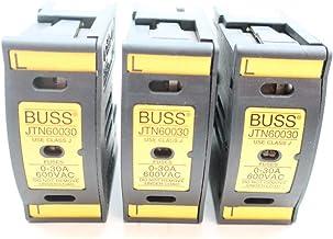 LOT of 3 BUSS JTN60030 Fuse Holder 0-30A 600V-AC