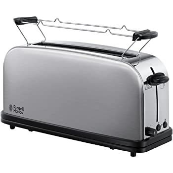 Russell Hobbs Toaster Grille-Pain, Fente Large Spécial Baguette, 6 Niveaux de Brunissage, Fonction Décongèlation - 21396-56 Adventure
