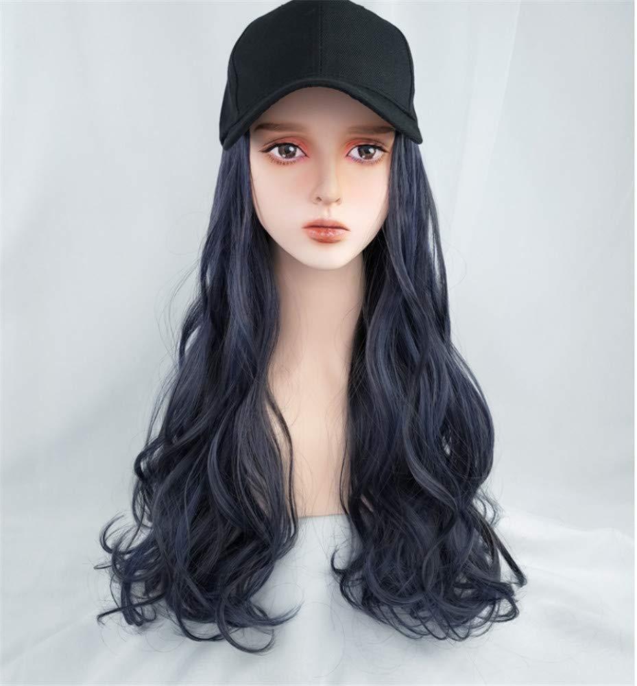 Chtom Baseball Cap Max 77% OFF Wig El Paso Mall Hat Wave Natural Baseb Women's Fluffy