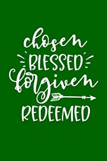 """Chosen Blessed Forgiven Redeemed: Mother Daughter Journal 6""""x9"""" Fun Book For Mothers to Complete and Give to Her Daughter"""