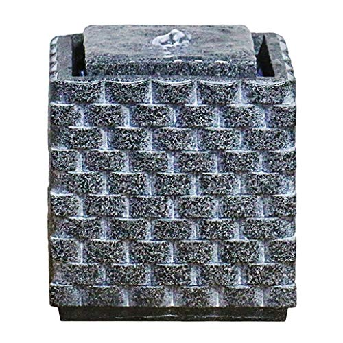 Hogar y Cocina Fuentes de Interior Feng Shui Resina Fuente de Escritorio Zen Interior y Exterior Tabla Fuente de la Plaza de la Roca Talla de Mesa decoración de la Fuente