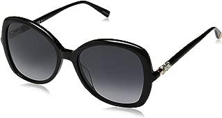 Max Mara Women's Mm Ring Square Sunglasses, Black, 55 mm
