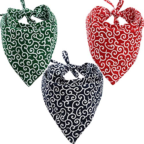 KZHAREEN 3 Pack Dog Bandanas Triangle Bibs Scarf Accessories Japanese Style