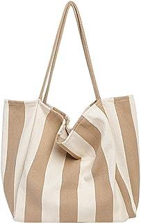 YONKINY Umhängetasche Damen Mode Canvas Groß Handtasche Shopper Tasche Schultertasche Strandtasche Henkeltasche