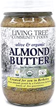 Living Tree Alive Organic Raw Almond Butter | Kosher, Vegan, No Added Sugar, Non-GMO, Supporting Family Farms - 16 Ounce