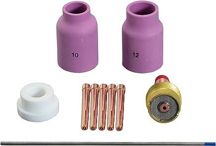 0,8/% Zirconiated WZ8 Blanco TIG Soldadura electrodos tungsteno 7 Tama/ño clasificado 0,040-1//16-3//32-1//8,8pcs