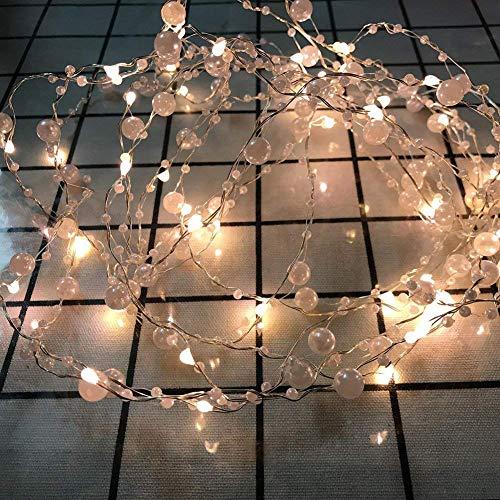 Queta USB LED Lichterkette 10M 100 Leds Lichterkette Romantische Perlen Weihnachtsbeleuchtung für Weihnachten Hochzeit Party Weihnachtsbaum