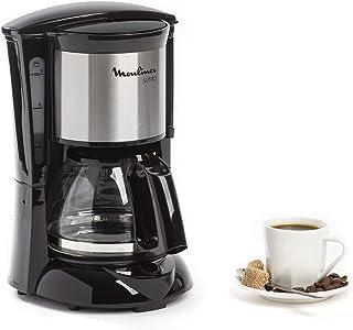 Moulinex Subito Cafetière filtre électrique, 0,6 L soit 6 tasses, Machine à café, Système anti goutte, Porte-filtre pivota...