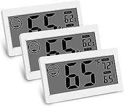 Noblik Digital TermóMetro Interior HigróMetro Monitor De Temperatura Ambiente De Humedad con Pantalla Grande Soporte ImáN para Colgar en Pared Invernadero Cocina Coche (Paquete De 3)