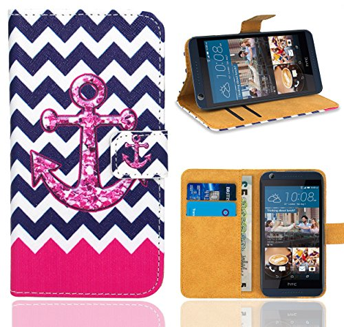 HTC Desire 626 626G Handy Tasche, FoneExpert® Wallet Hülle Flip Cover Hüllen Etui Ledertasche Lederhülle Premium Schutzhülle für HTC Desire 626 626G (Pattern 11)