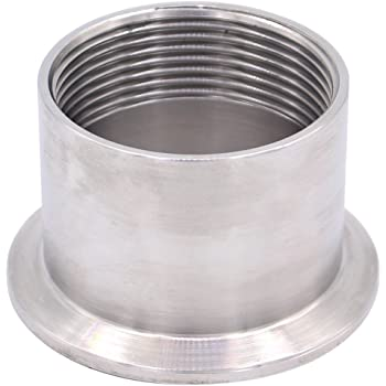Fange 304 19MM.32MM.38MM.45MM.51MM Stainless Steel Sanitary Pipe Weld Ferrule Tri clamp Type Stainless Steel Flange Connection Color : Pipe OD 32mm