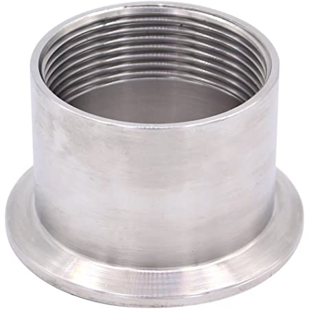 DERNORD Sanitary Male Threaded Pipe Fitting to 2 INCH OD 64mm Ferrule Pipe Size: 1 NPT (2 Inch Tri clamp) TRI CLAMP