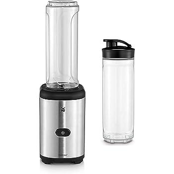 WMF Kult Mix & Go Mini Smoothie Maker, Standmixer, Blender elektrisch, Shake Mixer 300 Watt, Tritan-Kunststoff Flasche