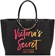 Victoria's Secret Angel City Tote, Black/Ombre Script