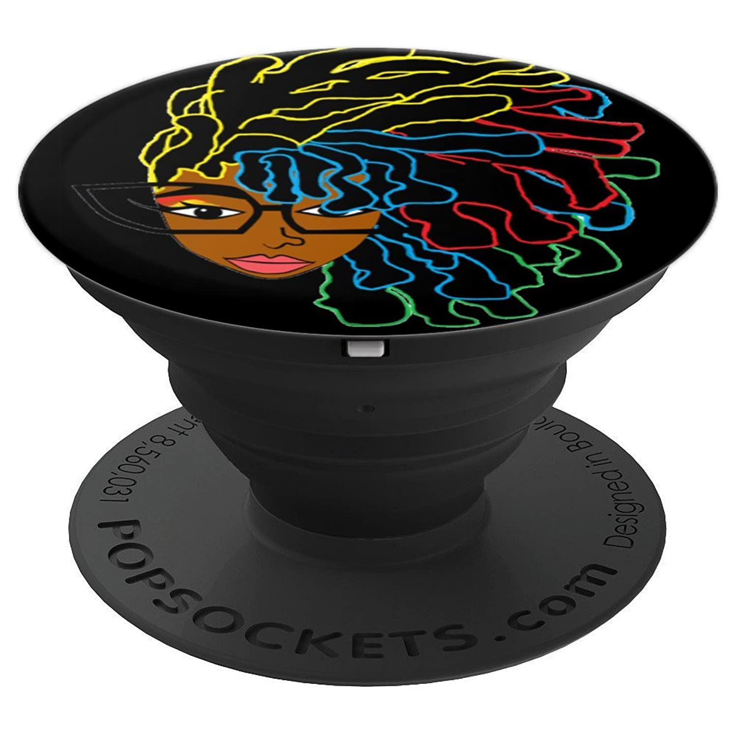 Natural Hair Black Women Dreadlock Beauty 1 - PopSockets Grip and Stand for Phones and Tablets