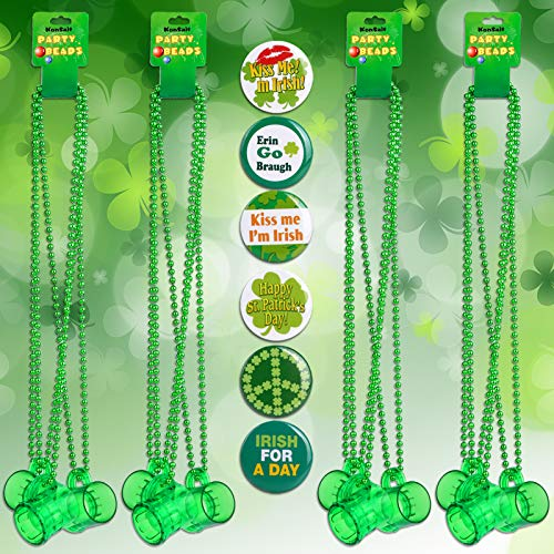 St.patricks Necklaces with Shot Glass