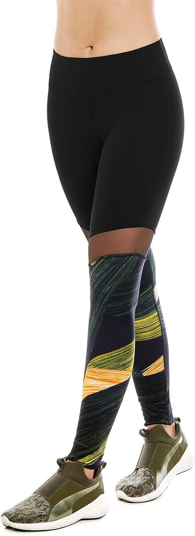 CHAMELA Sport Tights with MESH Leggings Yoga Pants Black REF CHA22959