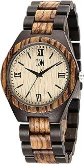 Mens Natural Wooden Watches Analog Quartz Handmade Casual Wrist Watch 6006