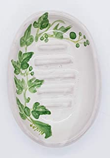Portasapone Linea Edere Ceramica Realizzato e dipinto a mano Le Ceramiche del Castello Made in Italy Dimensioni 13 x 9,5 cm