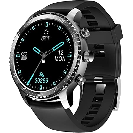 Tinwoo Smart Watch for Men and Women,46mm Support Wireless Charging,Bluetooth Fitness Tracker with Heart Rate Monitor, Smartwatch for Android Phones Compatible with iPhone Samsung(22mm TPU Band )