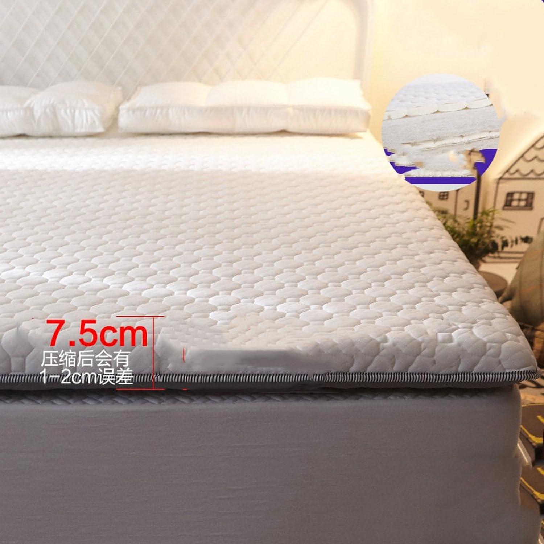 Latex Memory Foam Mixed Thick Tatami Mattress,Double Single Futon mat Pad-C 90x190cm(35x75inch)