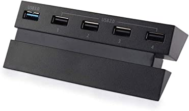 5 Port HUB for PS4, USB 3.0 High Speed Charger Controller Splitter Expansion for PlayStation 4 PS4 Console