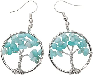 Turquoise Earring Gemstone Natural Handcraft Solid 925 Sterling Silver Earring Jewelry Drop Dangle Earrnig EN80